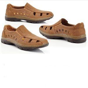 Casual Slip On Nu Buck Comfort Loafers Caramel 9.5